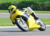 Learning to race on a Honda Hawk.
