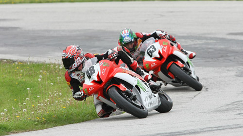 Finishing 1-2 in 600 Superbike
